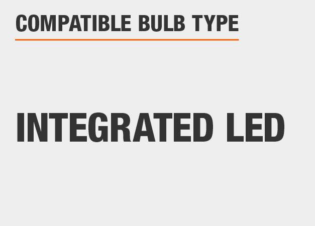 This light uses Integrated LED bulbs.