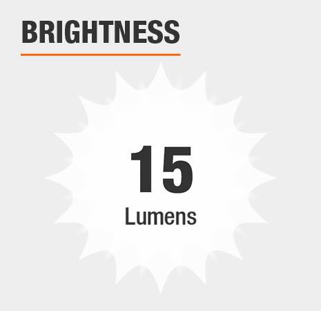 This light has a brightness of 15 lumens.