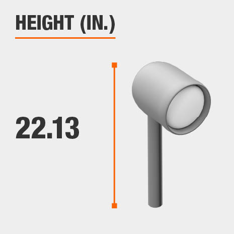 This light's height is 22.13 inches.