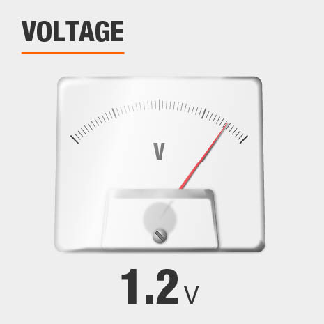 This light has a voltage of 1.2v.