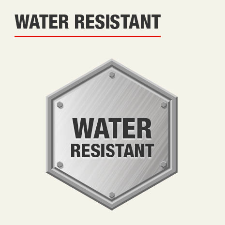 This product is water resistant