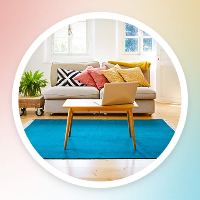 Liven up your living room with a more modern, vibrant clean.