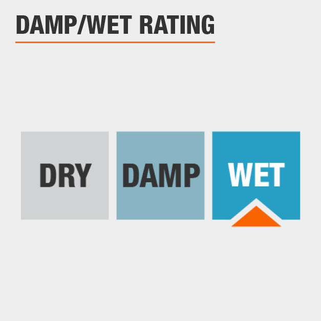 Damp/Wet Rating