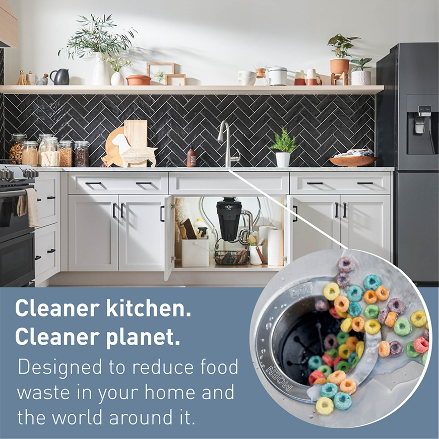However you like to use your kitchen, you can be sure with any Moen disposal, that your kitchen will be kept fresh and clean.