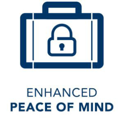 Enhanced peace of mind icon