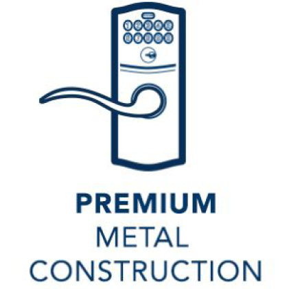 Premium metal construction icon