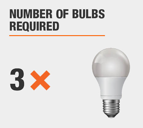 Number of Bulbs Required: 3