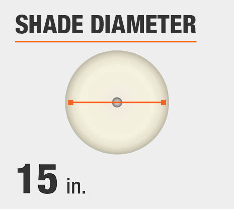 Shade Diameter: 15.00 in.