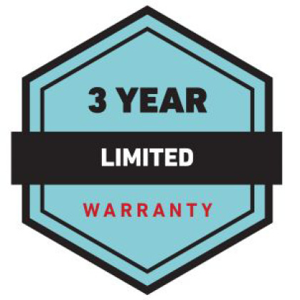 iconic graphic stating Toro's warranty