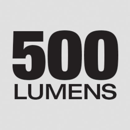 500 Lumens of TRUEVIEW™ High Definition Output