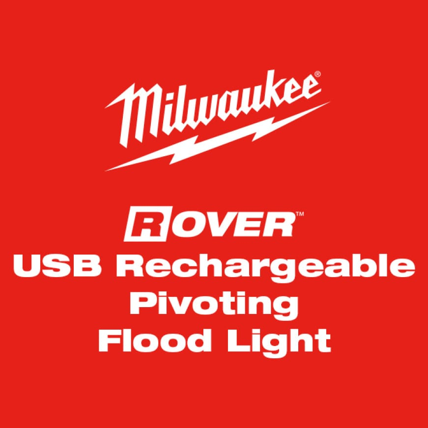 USB Rechargeable ROVER™ Pivoting Flood Light features a 210° rotating light head and a magnetic clip for maximum versatility