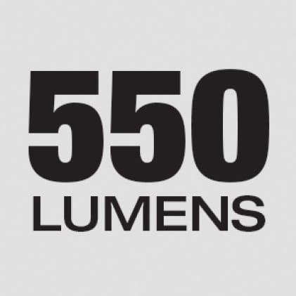 550 Lumens of TRUEVIEW™ High Definition Ouput