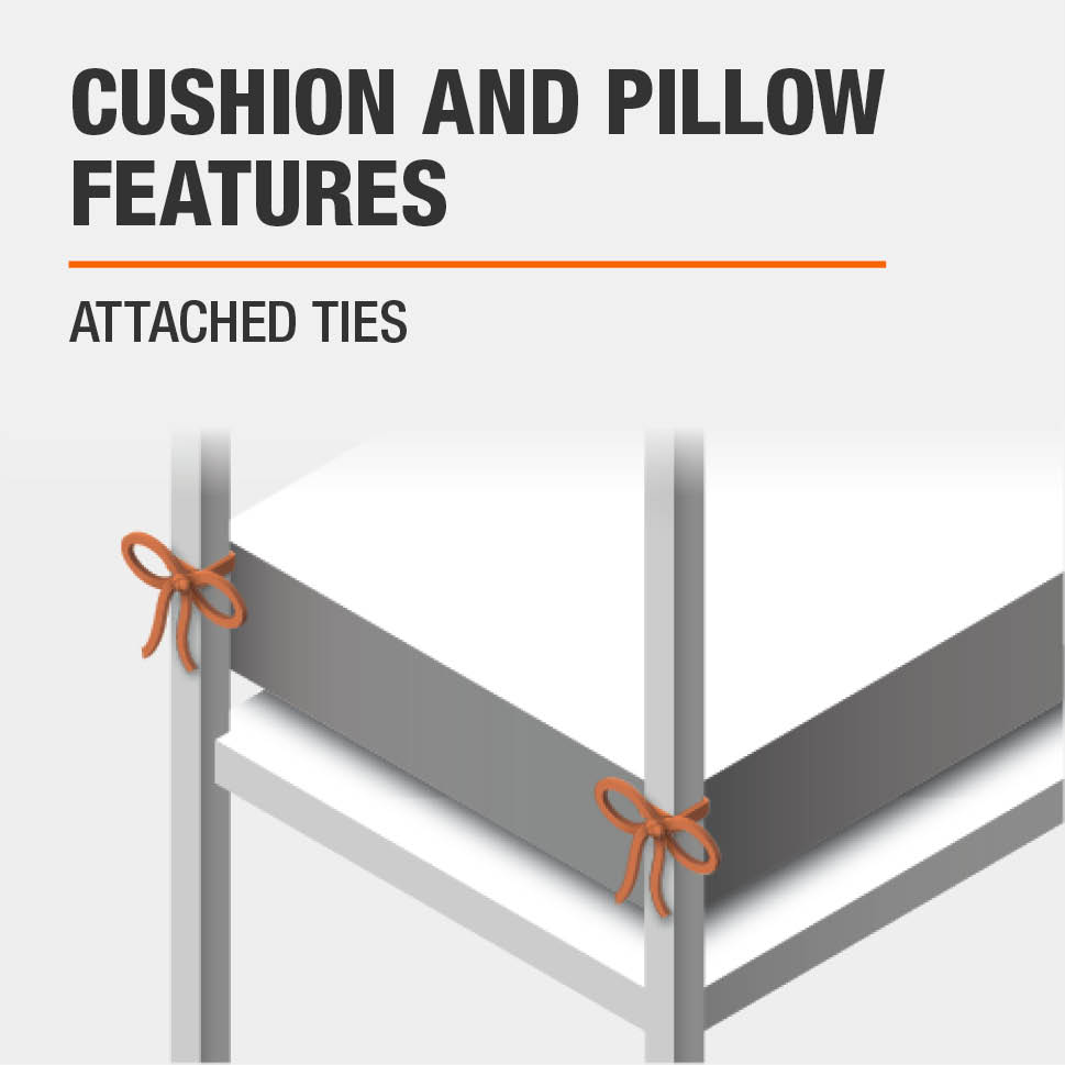 Cushion and Pillow Features Attached ties