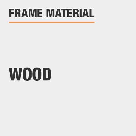 This bathroom vanity mirror frame material is Wood