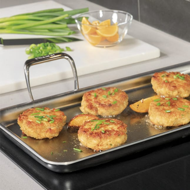 """Evenly heat large griddles or enamel cookware across two 7"""" SyncBurners on your range."""