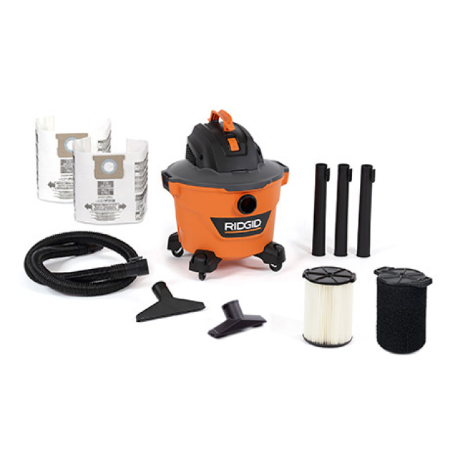 Includes 1-7/8 in. x 7 ft. Hose, 3 Extension Wands, Utility Nozzle, Wet Nozzle, Standard Filter, 2 Dust Bags,  Wet Filter