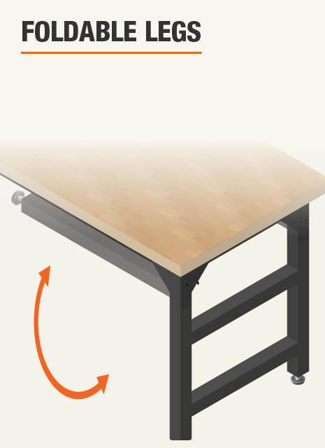 Foldable Workbench Legs