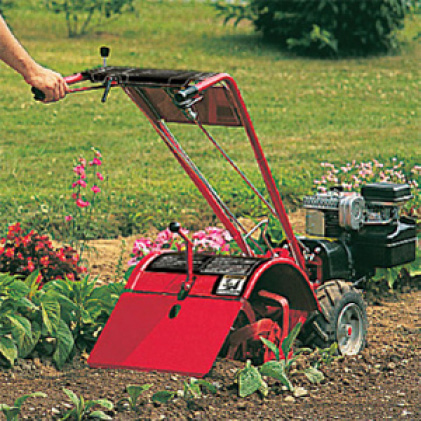 Troy-Bilt, tiller, cultivator, gas cultivator, gas tiller, just one hand operation