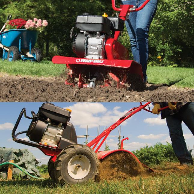 Troy-Bilt, tiller, cultivator, gas cultivator, gas tiller, tine positions