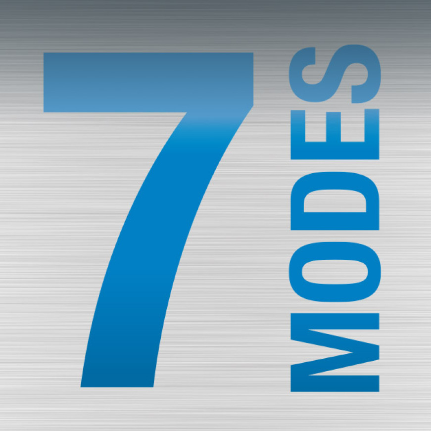 7 measuring modes for versatility. Modes include: degree (rough-in, one decimal, two decimal), in/ft (decimal and fractional), mm/m, and percent