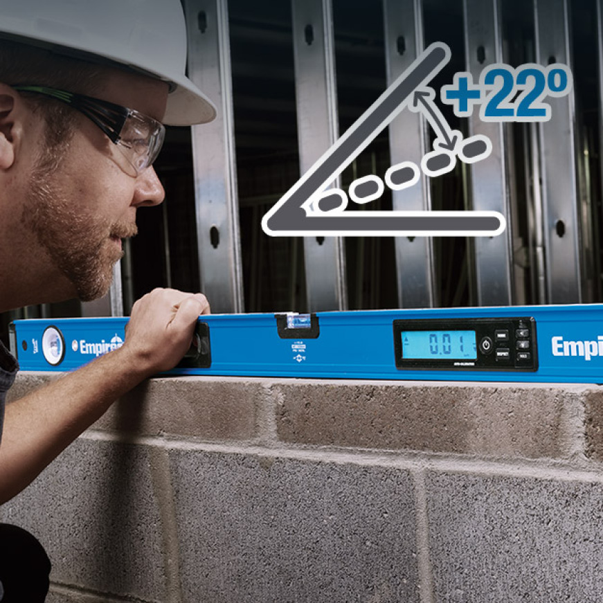 Provides repeated inspection of grade measurements; ideal for ADA ramps