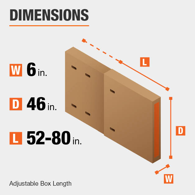 Heavy-Duty Extra -Large Adjustable TV and Picture Moving Box with Handles