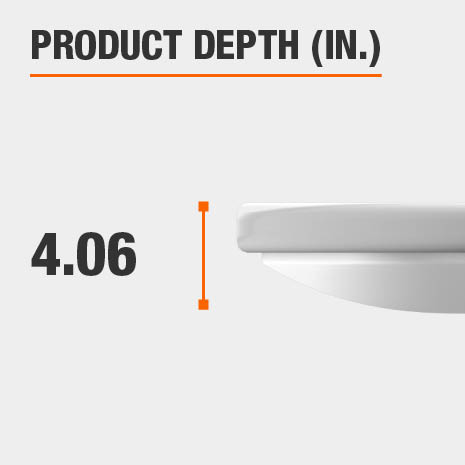This light fixture has a depth of 4.06 inches.