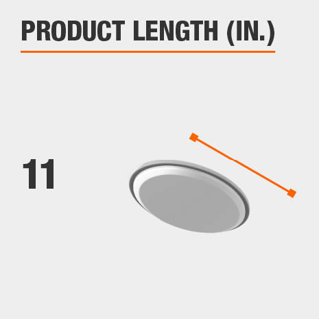 This light fixture has a length of 11 inches.
