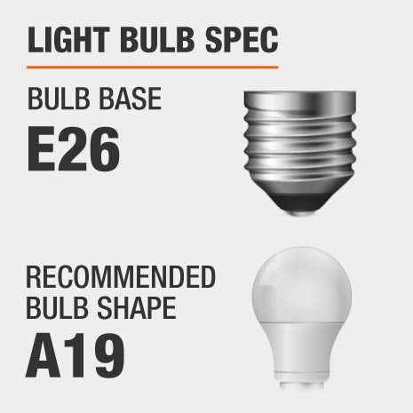 This pendant requires a E26 bulb base, and a A19-shaped light bulb is recommended.