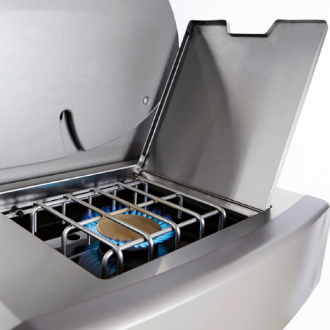 An extra burner to complete more of the meal at your grill