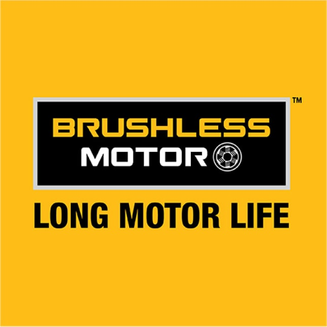 Maximize runtime and motor life with the high-efficiency brushless motor