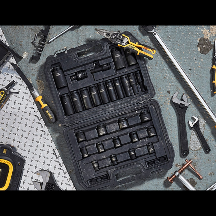 DWMT73802 1/4 in. and 3/8 in. Drive Socket Set (34-Piece)