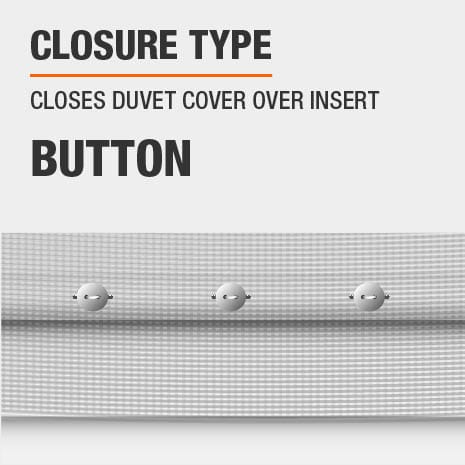 Duvet cover has a button closure type