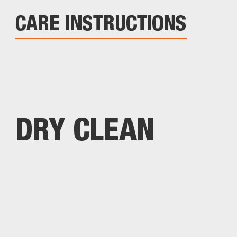 Care Instructions Dry Clean Only