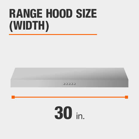 Range Hood is 30 inches wide