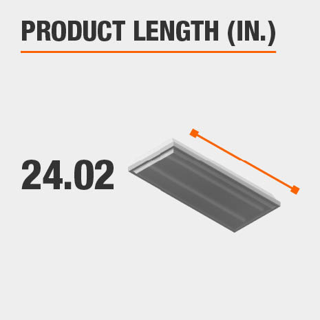This light fixture has a length of 24.02 inches.