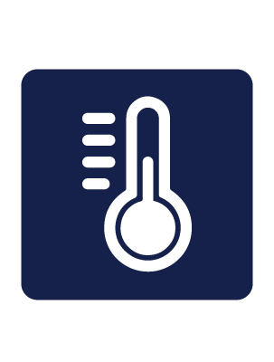 Infographic of thermometer to indicate temperature regulation.