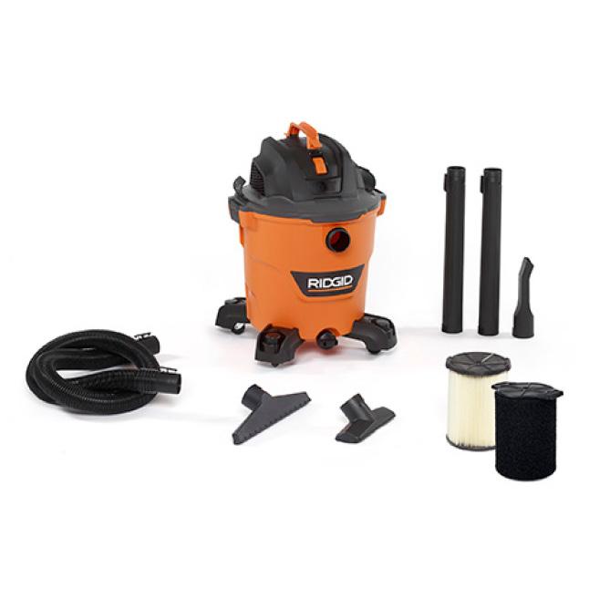Includes 2-1/2 in. x 7 ft. Hose, 2 Extension Wands, Utility Nozzle, Wet Nozzle, Car Nozzle, Wet Filter, Standard Filter