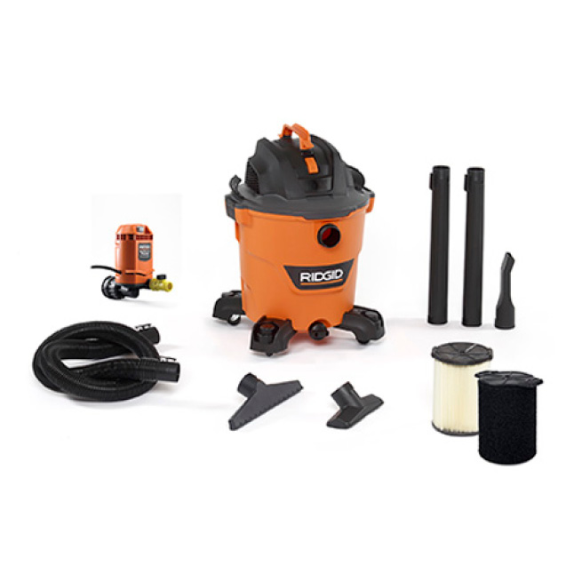 Includes 2-1/2 in. x 7 ft. Hose, 2 Extension Wands, Utility Nozzle, Wet Nozzle, Car Nozzle, Water Pump Attachment, Wet Filter, Standard Filter