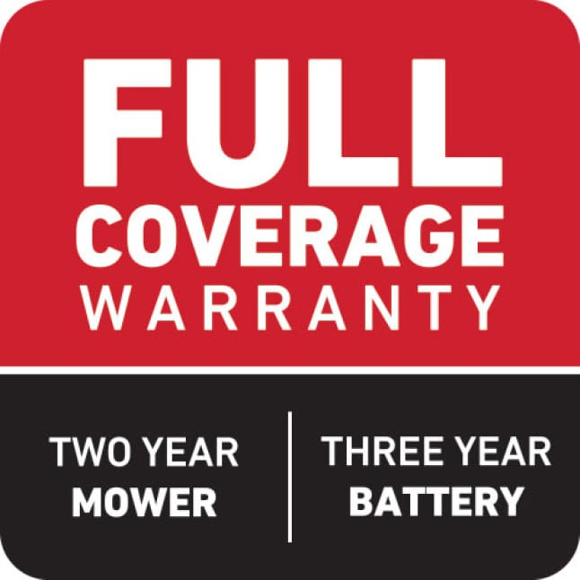 icon of Toro's 5 year full coverage warranty and 5 year guaranteed to start promise