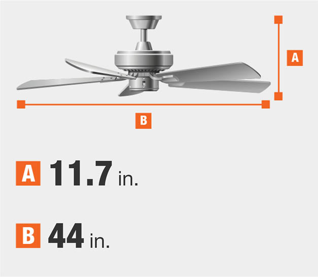 44 inch ceiling fans