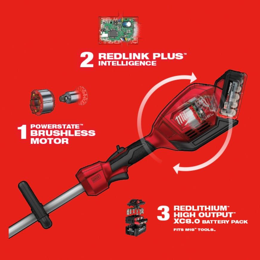 POWERSTATE™ Brushless Motor, REDLINK PLUS™ Intelligence and REDLITHIUM™ Batteries