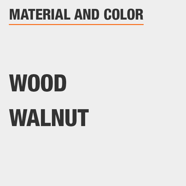 Material Wood and Color Walnut