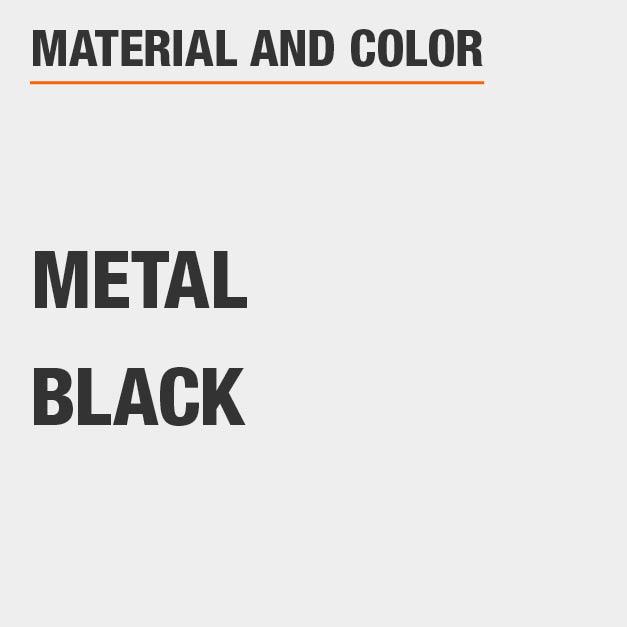 Material Metal and Color Black