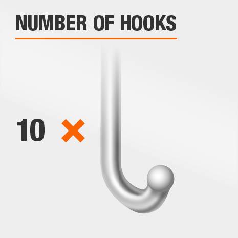 10 Hook Jewelry Mirror