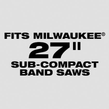 "Wil fit Milwaukee 27"" Sub-Compact Band Saw Blades: Available 12/14 TPI"