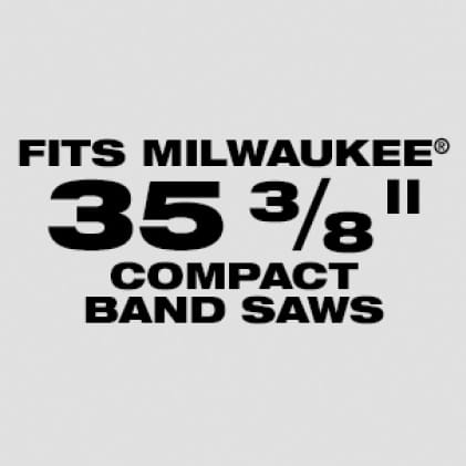 "Wil fit Milwaukee 35-3/8"" Compact Band Saw Blades: Available in 8/10 and 12/14 TPI"