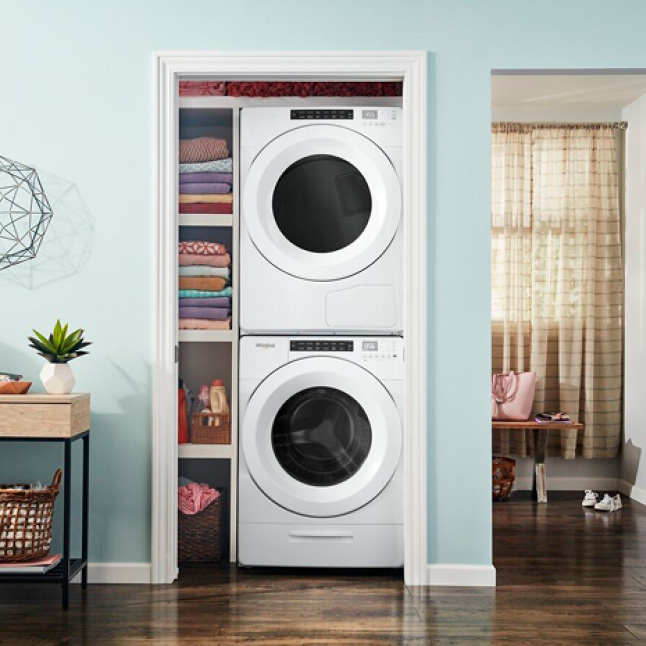 """Space-saving design with a 33"""" installation depth."""