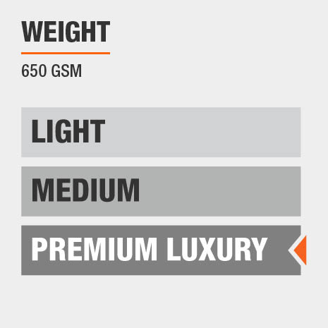 Towels are Premium Luxury Weight