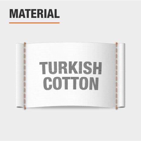 Material is 100% Turkish Cotton